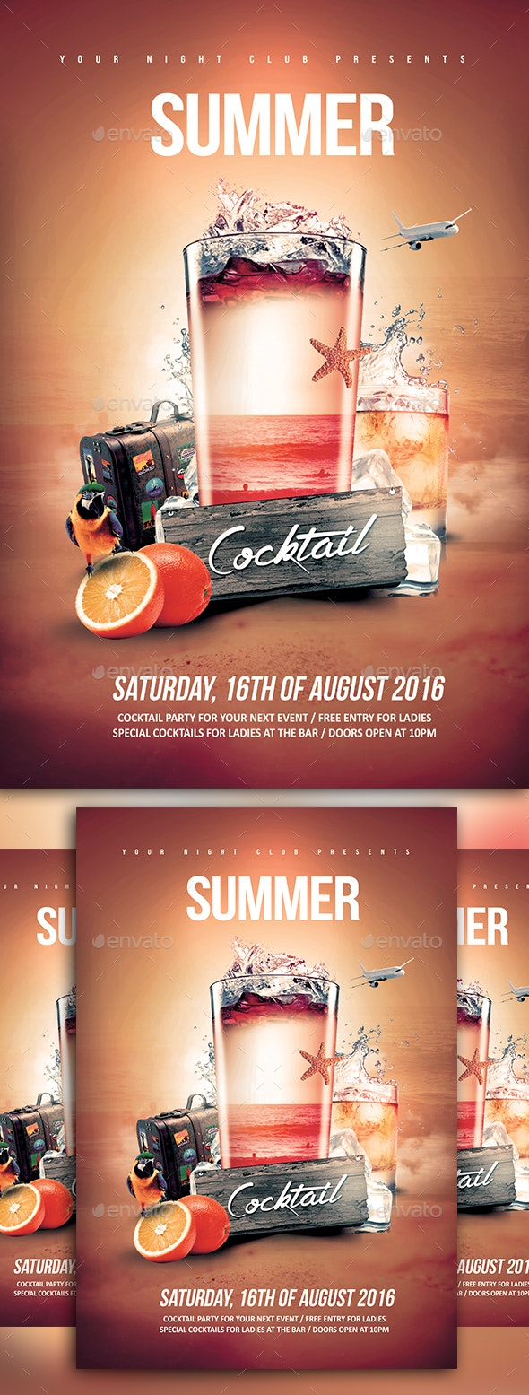 Summer Cocktail - Events Flyers