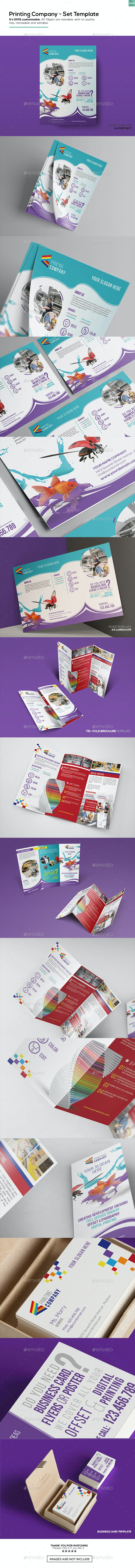 Printing Company - Set Template - Corporate Flyers