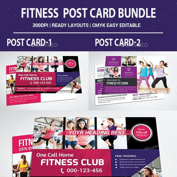 Fitness Postcards Bundle Template