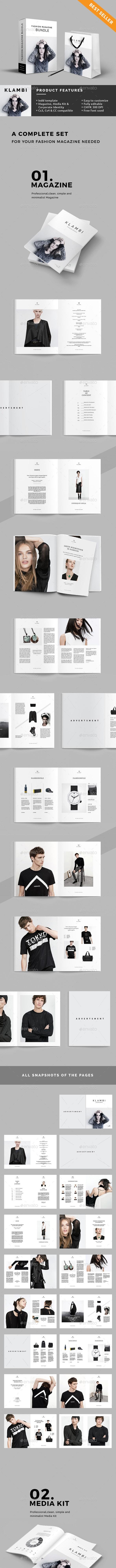 Bundle Fashion Magazine, Media Kit & Corporate Identity - Magazines Print Templates
