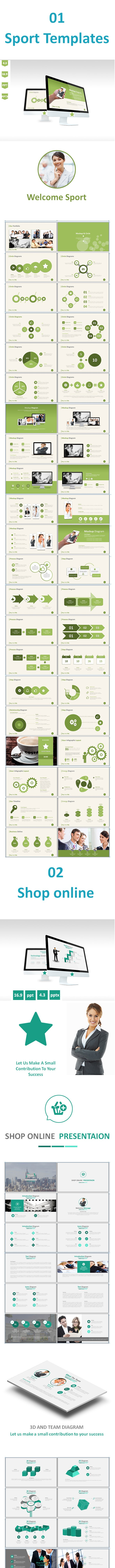 3 in 1 Bundle Powerpoint Templates - Business PowerPoint Templates