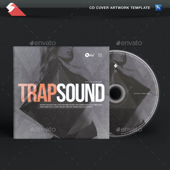 Trap Sound - CD Cover Template
