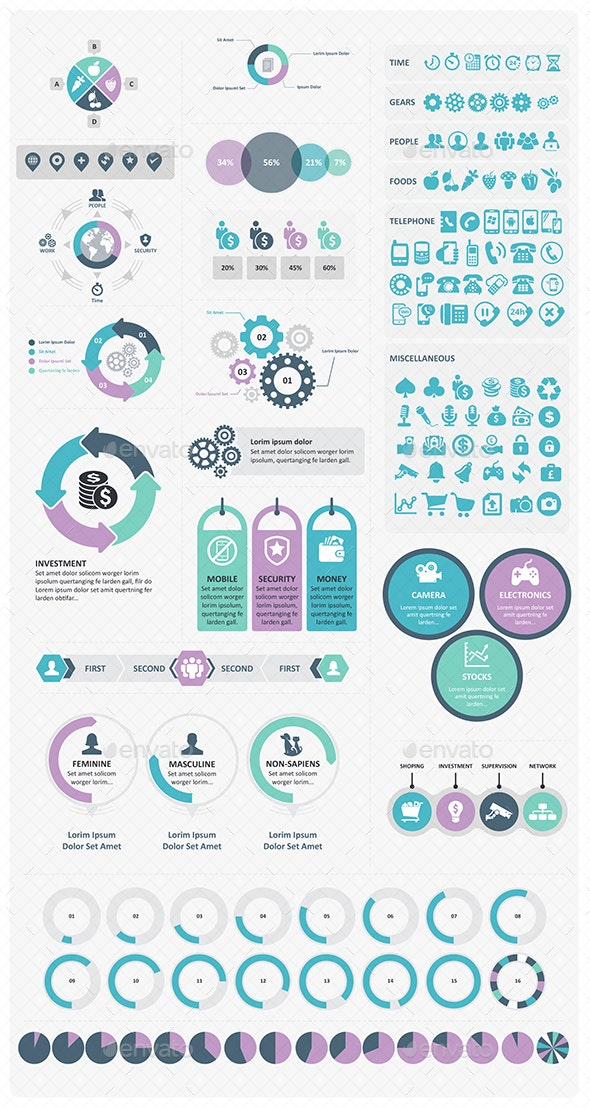 Infographic & Icon Set - Infographics
