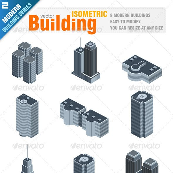 Modern Isometric Buildings