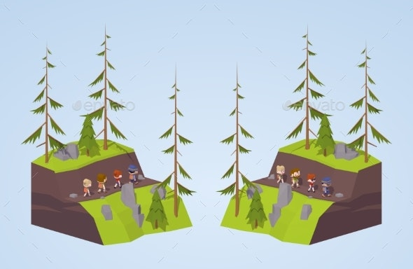 Footpath in the Mountains - Sports/Activity Conceptual