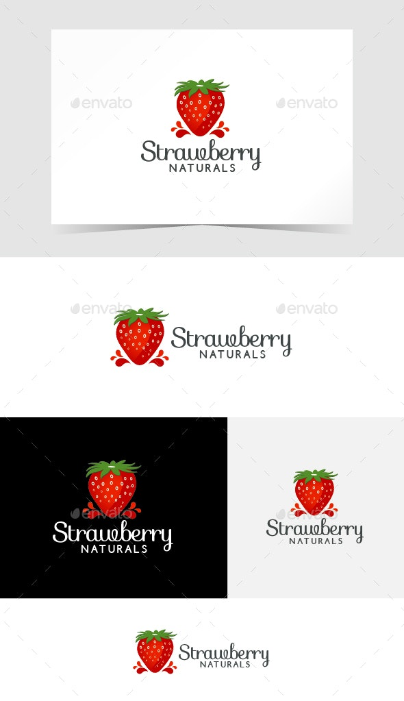 Strawberry Logo Template - Food Logo Templates