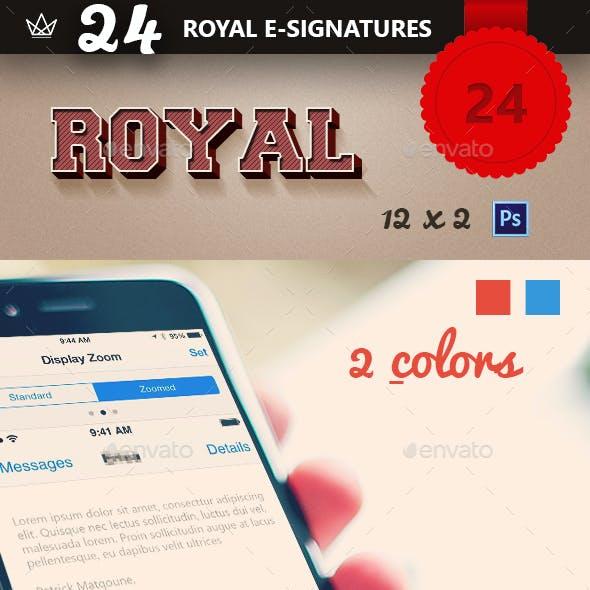 Royal 24 Professional E-Signatures