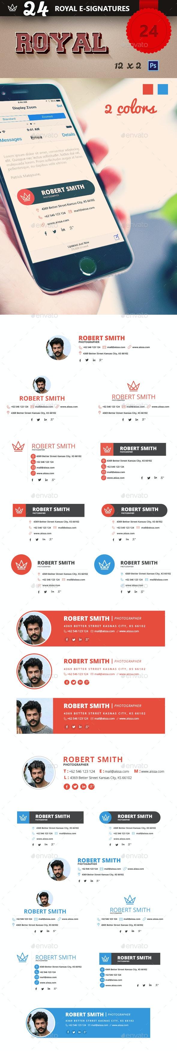 Royal 24 Professional E-Signatures - Miscellaneous Web Elements