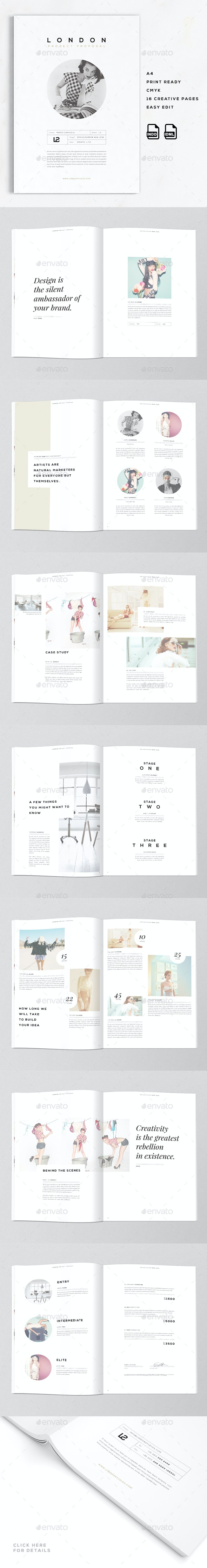 London   A4 Creative Business Proposal  - Proposals & Invoices Stationery
