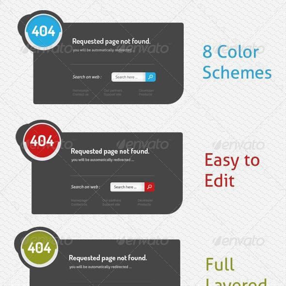 Multi 404 Error Page