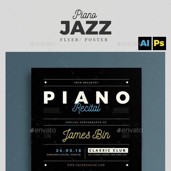 Piano Recital Flyer Template