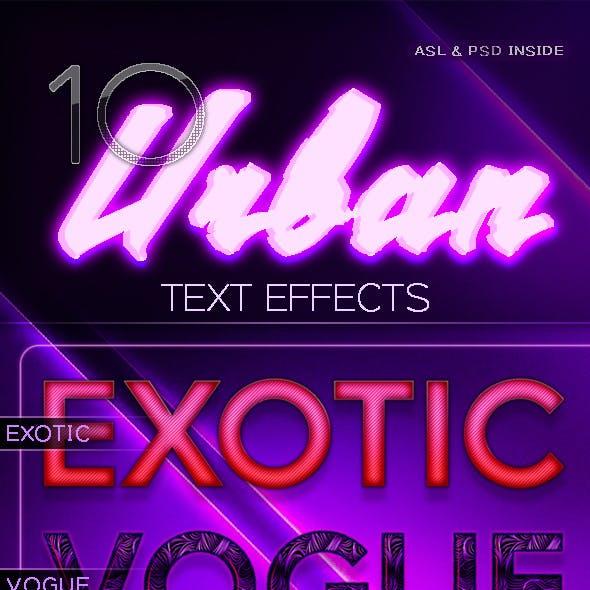 10 Modern Text Effects