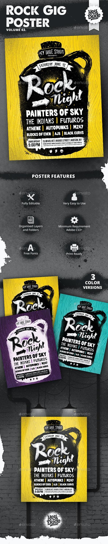 Rock Gig Poster v2 - Concerts Events