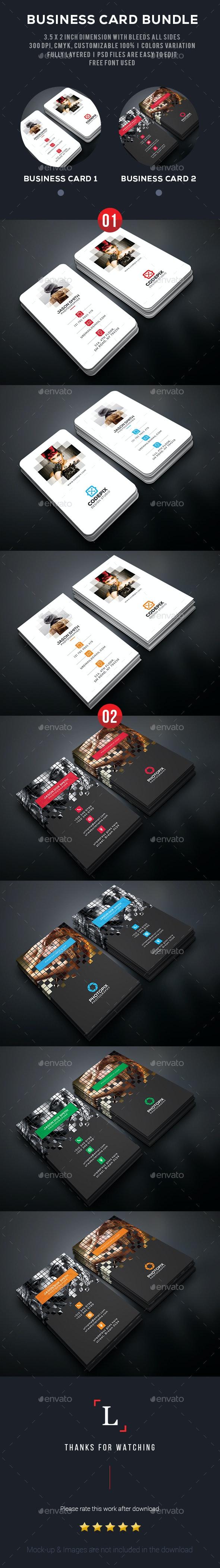 Pixel Business Card Bundle - Business Cards Print Templates