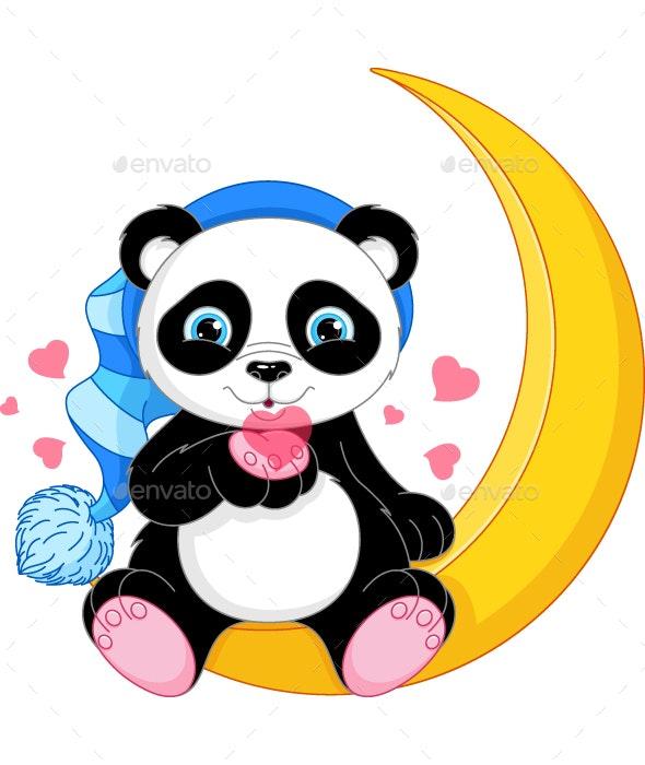 Panda on the Moon - Animals Characters
