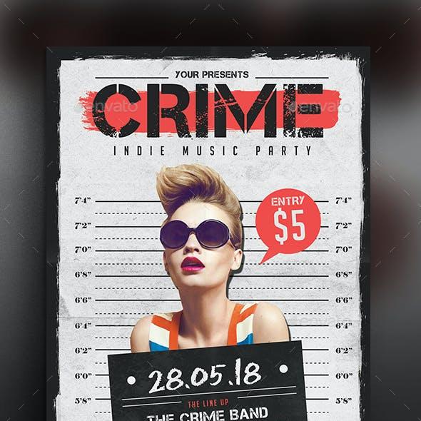 Indie Crime Flyer/Poster