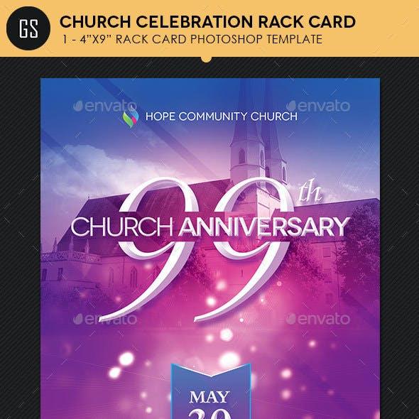 Church Celebration Rack Card Photoshop