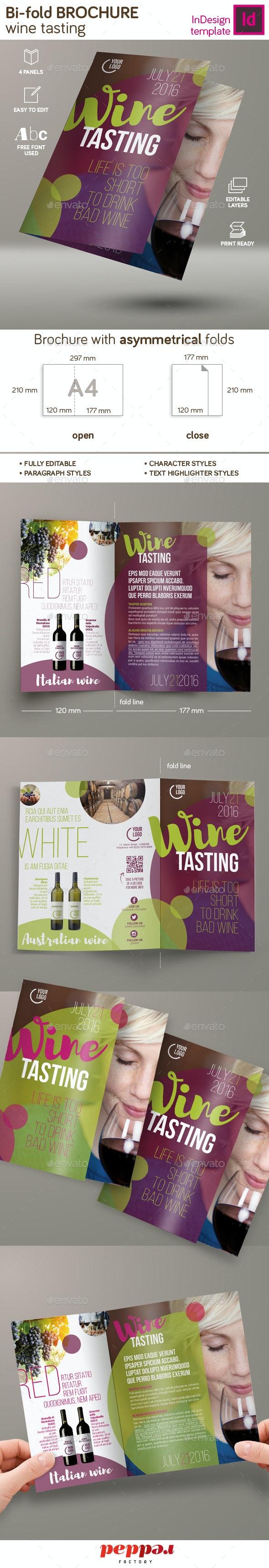 Wine Tasting Bi-Fold Brochure - Brochures Print Templates