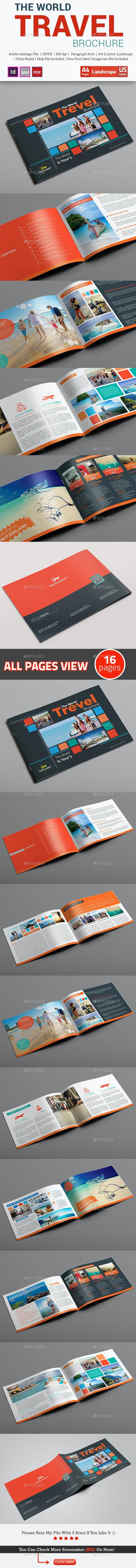 Travel Agency Brochure Or Catalog Template - Brochures Print Templates