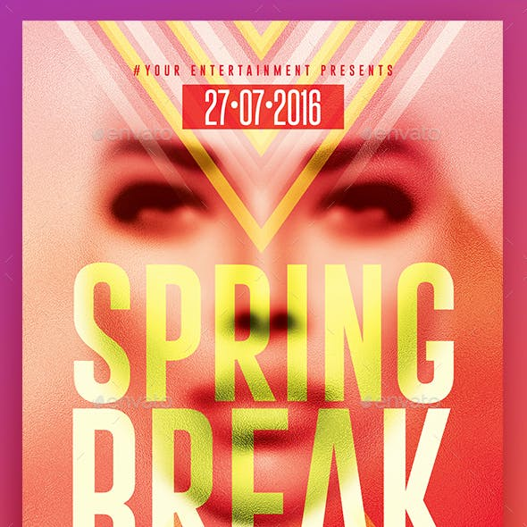 Spring Break Party | Psd Flyer Template