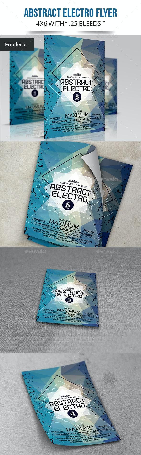 Abstract Electro Flyer - Clubs & Parties Events