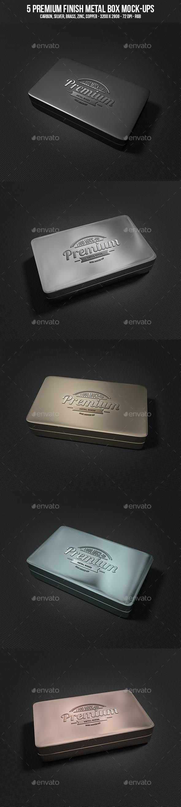 Metal Box Mock-Ups - Miscellaneous Packaging