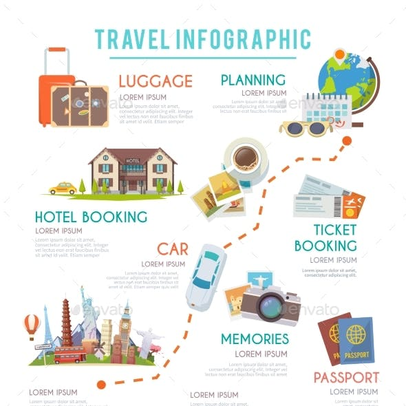 Travel Vector Infographic