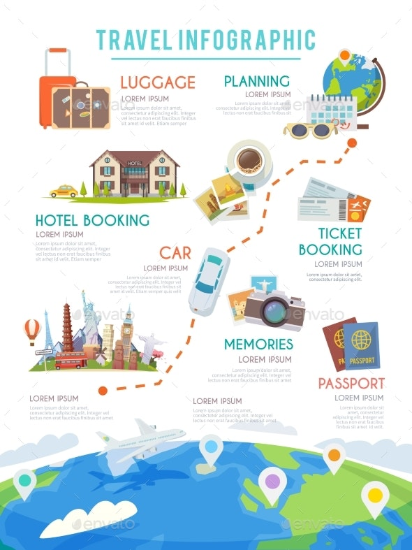 Travel Vector Infographic - Web Elements Vectors