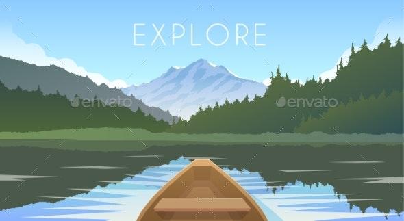Sailing Boat. Mountain Landscape. - Landscapes Nature