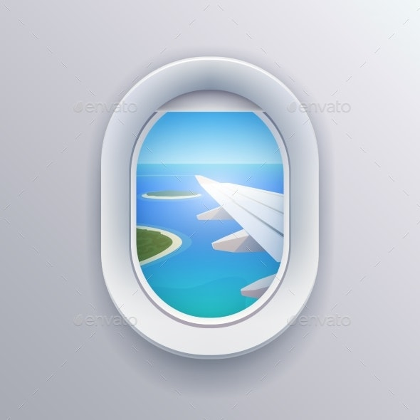 View From Plane. - Travel Conceptual