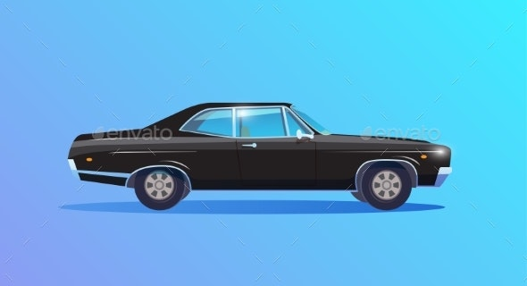 Retro Sports Car - Backgrounds Decorative