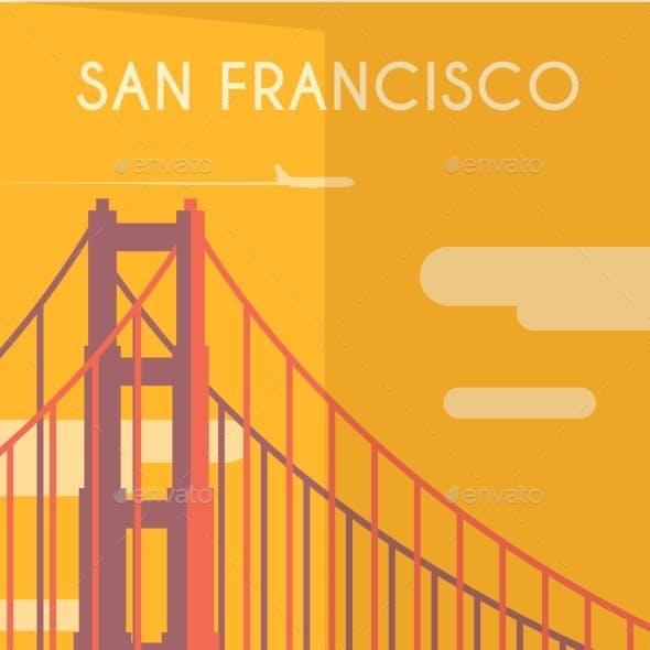 Art Deco Poster. San Francisco.