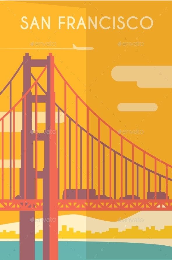 Art Deco Poster. San Francisco. - Travel Conceptual