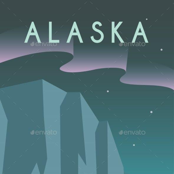 Art Deco Poster. Alaska.