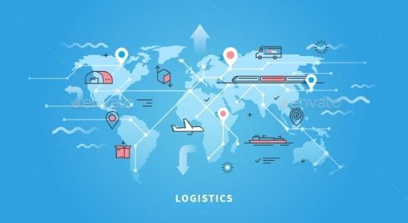 Web Banner Of Logistics - Travel Conceptual