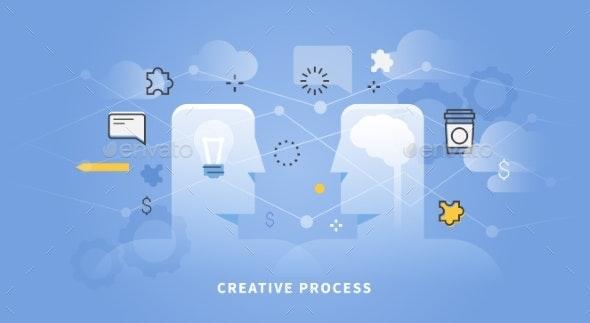 Web Banner Of Creative Process - Web Technology