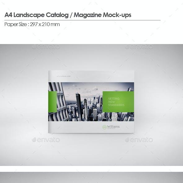 A4 Landscape Catalog / Magazine Mock-Up