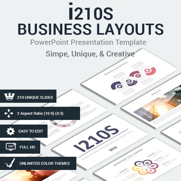 i210S Business Layouts PowerPoint Presentation Template