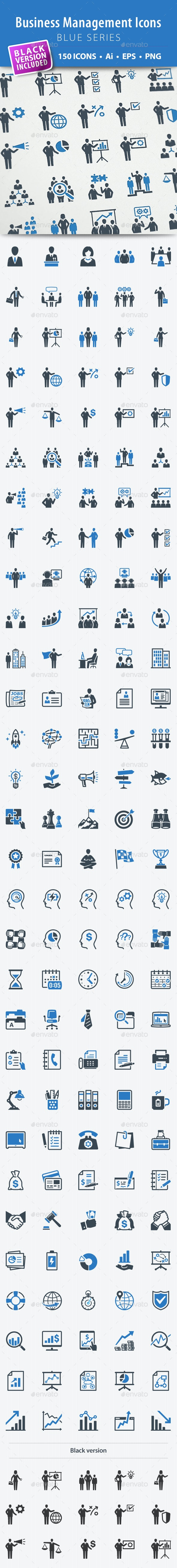 Business Management Icons - Blue Series - Business Icons
