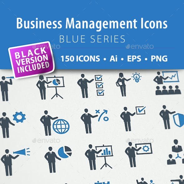Business Management Icons - Blue Series