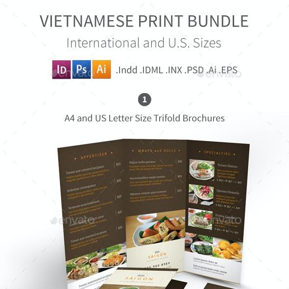 Vietnamese Restaurant Menu Print Bundle 2