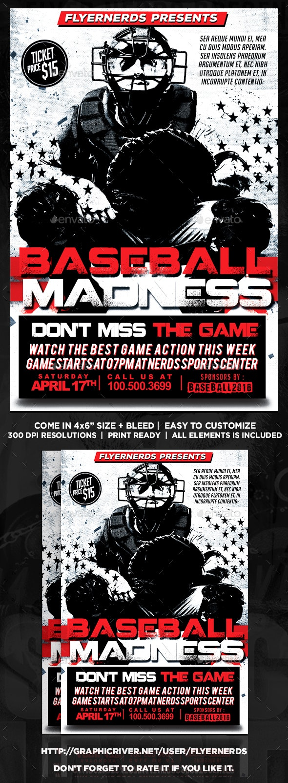 Baseball Championships Sports Flyer - Sports Events