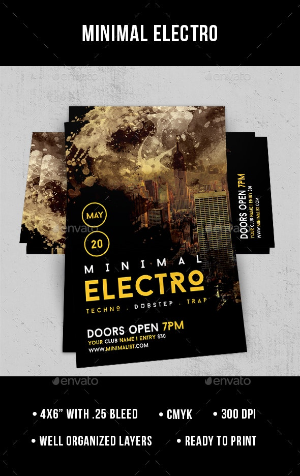 Minimal Electro - Flyer - Clubs & Parties Events