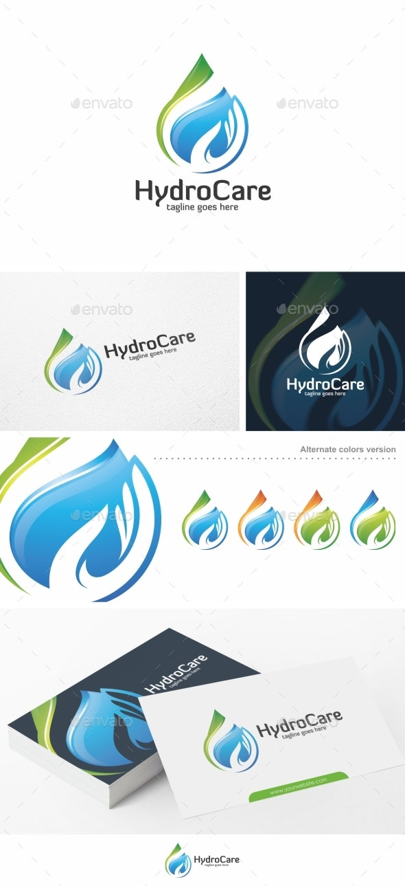 Hydro Care / Water - Logo Template - Nature Logo Templates