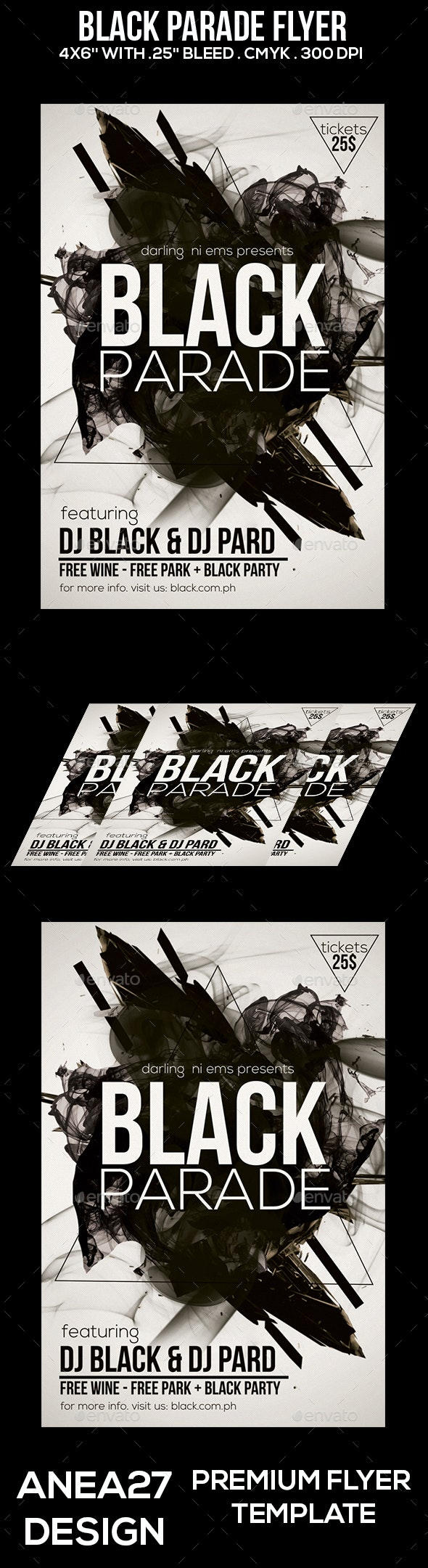Black Parade Flyer - Clubs & Parties Events