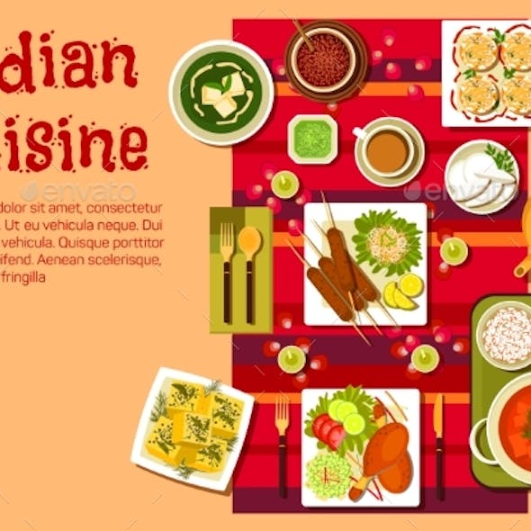 Indian Cuisine Dishes and Snacks