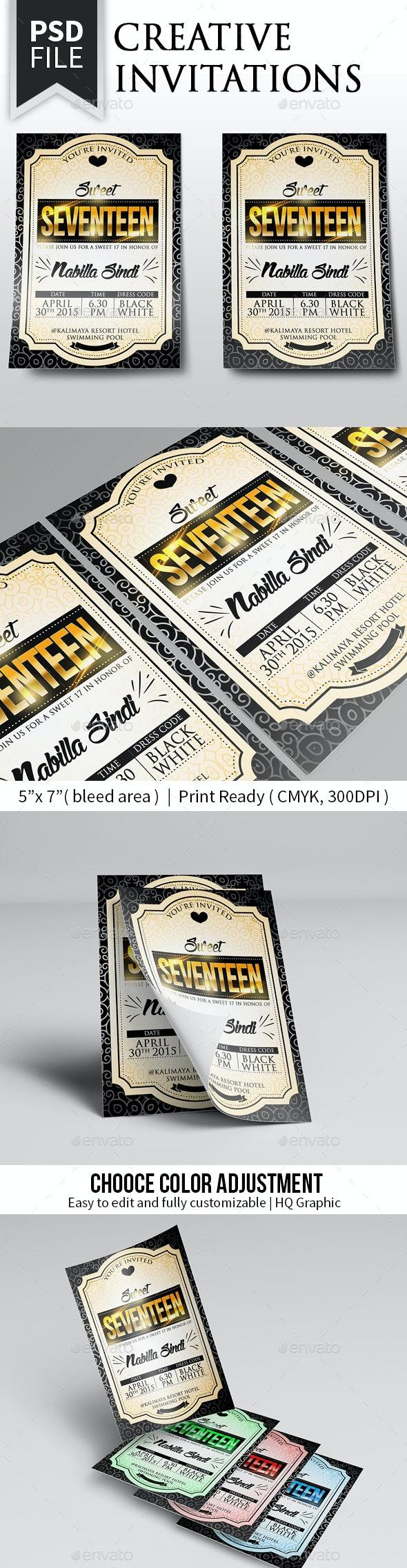 Elegant Invitation Card - Cards & Invites Print Templates