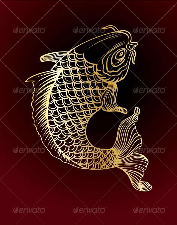 golden carp - Animals Characters
