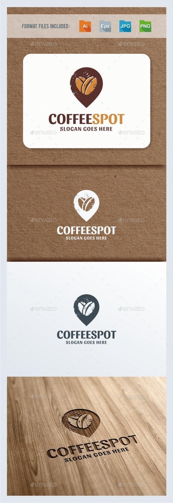 Coffee Locator Logo Template - Symbols Logo Templates