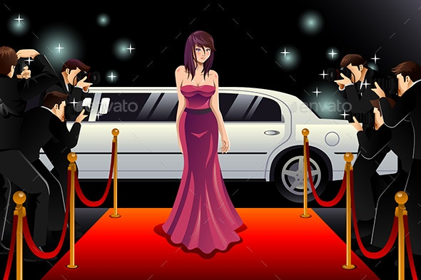 Woman Going to a Red Carpet Event - People Characters